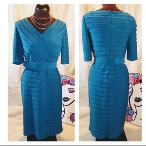 Adrianna Papell Cocktail Dress-Teal blue, size 12